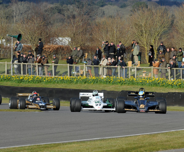 2016 74th Members Meeting Goodwood Estate, West Sussex,England 19th - 20th March 2016 Ground Effect Grand Prix Demo Lotus 78 Rob Hall Wrigley Williams World Copyright : Jeff Bloxham/LAT Photographic Ref : Digital Image