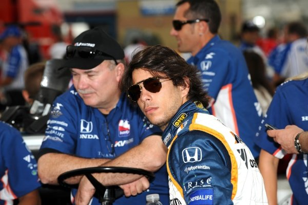 Mario Moraes (BRA) KV Racing Technology. IndyCar Series, Rd15, Peak Anti Freeze 300, Chicagoland Speedway, Joliet, Illinois, USA, 29-30 August 2009.