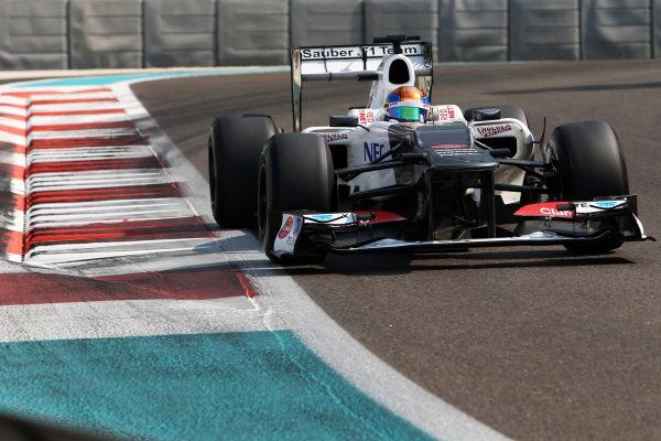 Esteban Gutierrez (MEX) Sauber Third Driver. Formula One Young Drivers Test, Day Three, Yas Marina Circuit, Abu Dhabi, UAE, Thursday 8 November 2012.