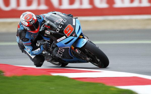 2014 MotoGP Championship  British Grand Prix.  Silverstone, England. 29th - 30st August 2014.  Danilo Petrucci, Ioda Aprilia.  Ref: _W1_5409. World copyright: Kevin Wood/LAT Photographic