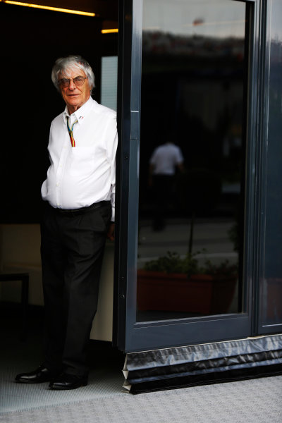 Hungaroring, Budapest, Hungary. Saturday 26 July 2014. Bernie Ecclestone, CEO and President, FOM. World Copyright: Charles Coates/LAT Photographic. ref: Digital Image _J5R8261