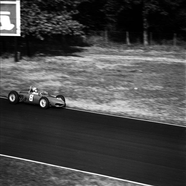 Monza, Italy.8-10 September 1961.Ricardo Rodriguez (Ferrari Dino 156) retired, action.Ref-10601.World Copyright - LAT Photographic