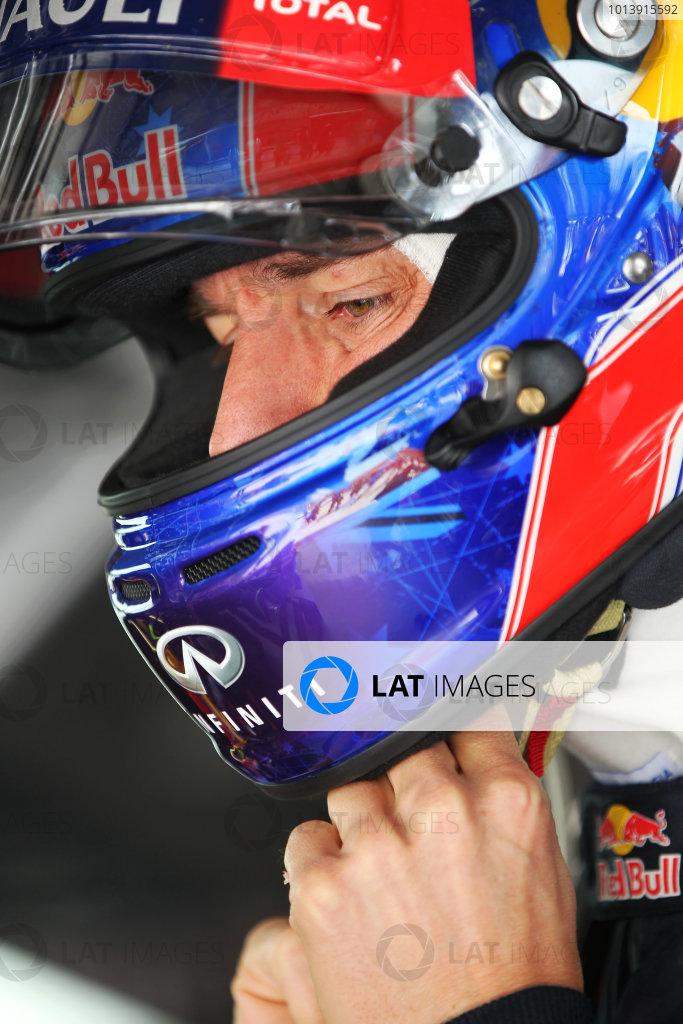 Shanghai International Circuit, Shanghai, China Saturday 13th April 2013 Mark Webber, Red Bull Racing.  World Copyright: Andy Hone/LAT Photographic ref: Digital Image HONY5378