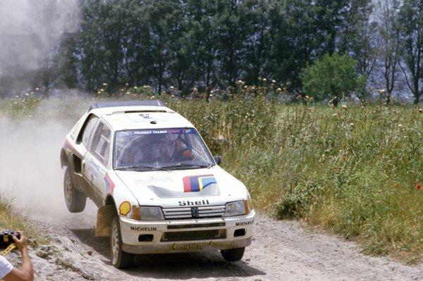 1984 World Rally Championship.Acropolis Rally, Greece. 26-31 May 1984.Ari Vatanen/Terry Harryman (Peugeot 205 Turbo 16), retired.World Copyright: LAT PhotographicRef: 35mm transparency 84RALLY19