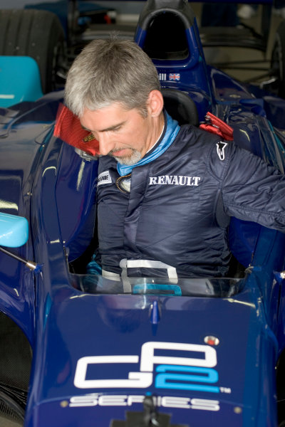 2005 GP2 Series Press DayPaul Ricard, FranceDamon Hill Prepares for his first drive of a GP2 Car 28th June 2005World copyright: GP2 media serviceHi-Res Available on request