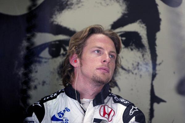 2004 Brazilian Grand Prix - Friday Practice,Interlagos, Sao Paulo, Brazil. 22nd October 2004 Jenson Button, BAR Honda 006, portrait.World Copyright: Steve EtheringtonLAT Photographic ref: Digital Image Only