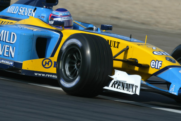 2003 European Grand Prix - Friday 1st Qualifying,Nurburgring, Germany.27thth June 2003.Jarno Trulli, Renault R23, action.World Copyright LAT Photographic.Digital Image Only.