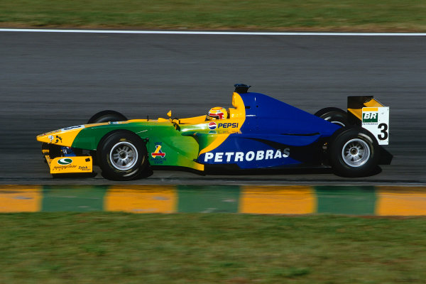 2002 FIA F3000 ChampionshipInterlagos, Brazil. 29th - 30th March 2002.Antonio Pizzonia, Petrobras Junior Team, in action on his way to 4th position.World Copyright: PicMe/LAT Photographicref: 35mm Image A09