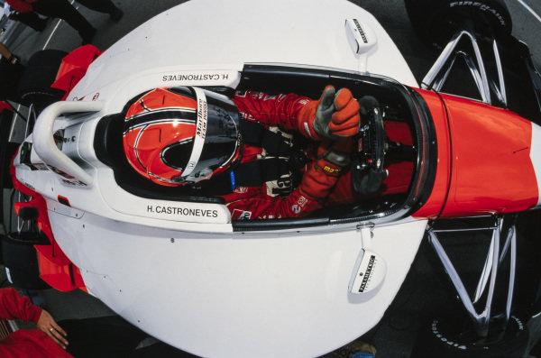 Hélio Castroneves, Team Penske, Reynard 2KI Honda.