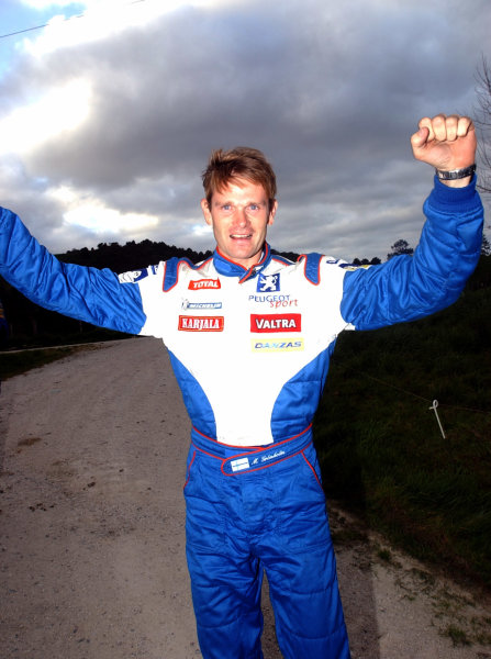 2002 World Rally Championship.Propecia Rally of New Zealand, Auckland, October 3rd-6th.Marcus Gronholm looks almost certain to be the 2002 World Rally Champion.Photo: Ralph Hardwick/LAT