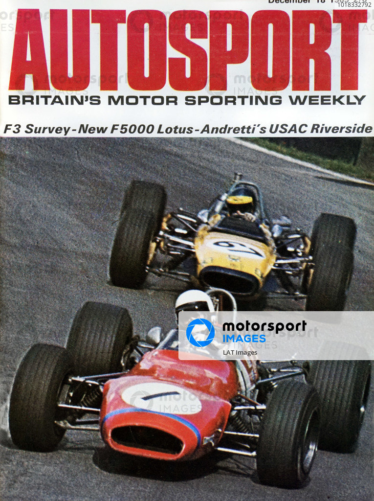 Cover of Autosport magazine, 18th December 1969