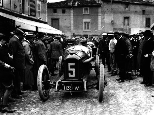 Lyons, France.4 July 1914.Georges Boillot (Peugeot EX5).Ref: Autocar Glass Plate 1229.World Copyright - LAT Photographic