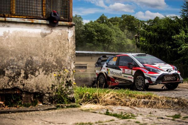 Jari-Matti Latvala (FIN) / Miikka Anttila (FIN), Toyota Gazoo Racing Toyota Yaris WRC at World Rally Championship, Rd8, Rally Poland, Day Three, Mikolajki, Poland, 2 July 2017.