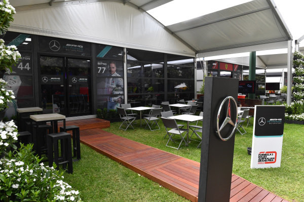 The AMG Mercedes hospitality area