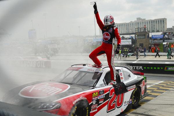 #20: Christopher Bell, Joe Gibbs Racing, Toyota Supra Rheem wins at Dover