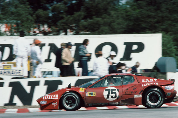 Le Mans, France. 11th - 12th June 1977 Franois Migault/Lucien Guitteny (Ferrari 365 GT4 BB), 16th position, action. World Copyright: LAT PhotographicRef: 77LM27.