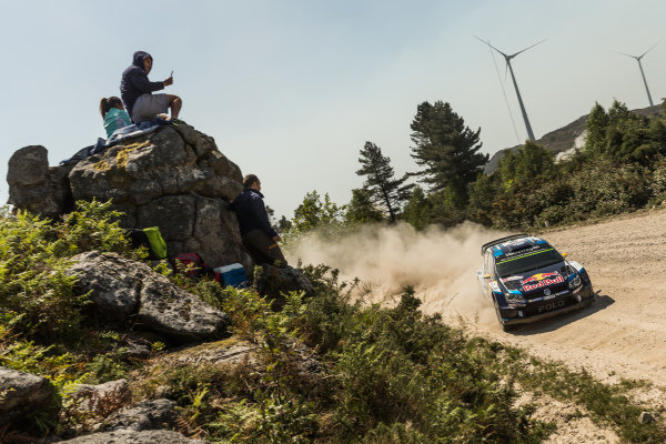 Andreas Mikkelsen (NOR) / Ola Floene (NOR) Volkswagen Polo R WRC at World Rally Championship, Rd5, Rally Portugal, Day Three, Matosinhos, Portugal, 24 May 2015.