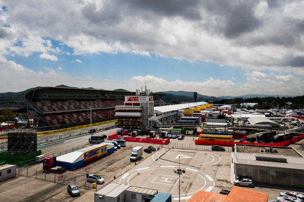 2017 FIA Formula 2 Round 2. Circuit de Catalunya, Barcelona, Spain. Thursday 11 May 2017. A view of the paddock. Photo: Zak Mauger/FIA Formula 2. ref: Digital Image _56I6685