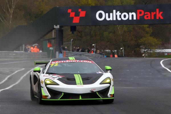 2017 British GT Championship, Oulton Park, 15th-17th April, 2017, Adam Balon / Adam Mackay - track-club - McLaren 570S GT4 World copyright. JEP/LAT Images