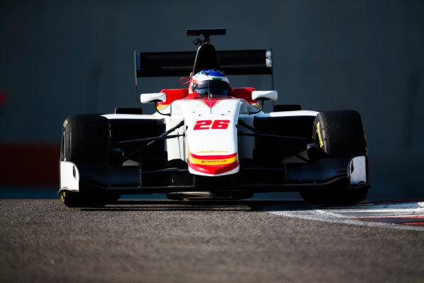 2017 GP3 Series Test 5. Yas Marina Circuit, Abu Dhabi, United Arab Emirates. Thursday 30 November 2017. Simo Laaksonen (FIN, Campos Racing).  Photo: Joe Portlock/GP3 Series Media Service. ref: Digital Image _L5R2334