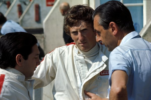 (L-R) Pedro Rodriguez (MEX) Cooper, Jochen Rindt (AUT) Cooper and Roy Salvadori (GBR).