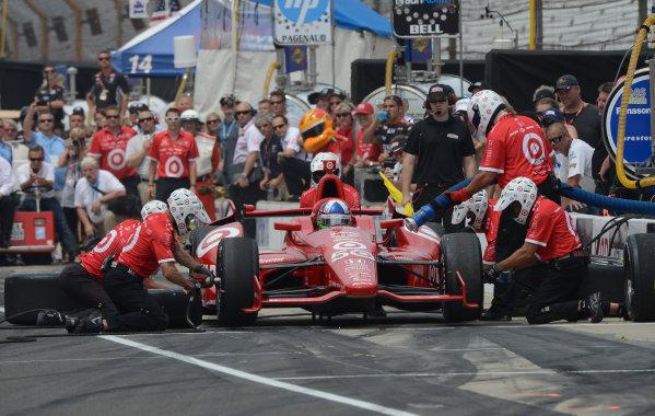 25 May, 2012, Indianapolis, Indiana USADario Franchitti #50 Target Chip Ganassi Racing during pitstop competition(c)2012 Dan R. Boyd LAT Photo USA