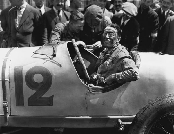 Le Mans, France. 25th July 1921. Jimmy Murphy (Duesenberg), 1st position, portrait. Ref: Autocar Glass Plate 7263.World Copyright: LAT Photographic