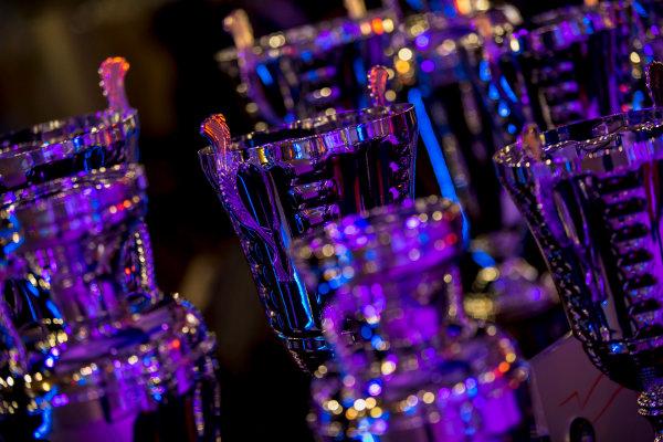 2017 Awards Evening. Yas Marina Circuit, Abu Dhabi, United Arab Emirates. Sunday 26 November 2017. Trophies. Photo: Zak Mauger/FIA Formula 2/GP3 Series. ref: Digital Image _X0W0146