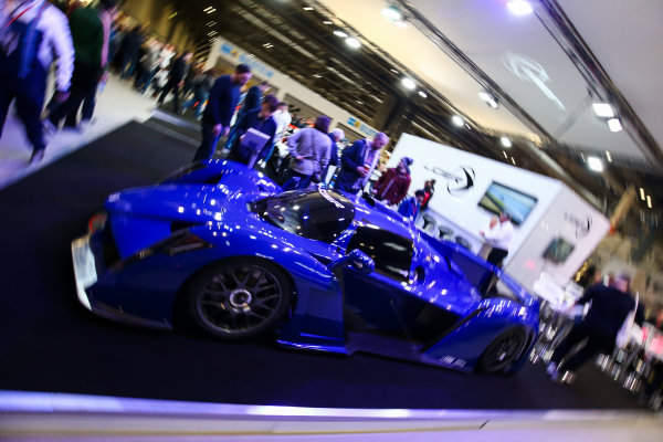 Autosport International Exhibition. National Exhibition Centre, Birmingham, UK. Saturday 13th January 2018. The Ligier stand.World Copyright: James Roberts/JEP/LAT Images Ref: JR2_5246