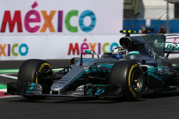 Autodromo Hermanos Rodriguez, Mexico City, Mexico. Friday 27 October 2017. Valtteri Bottas, Mercedes F1 W08 EQ Power+. World Copyright: Charles Coates/LAT Images  ref: Digital Image AN7T8542