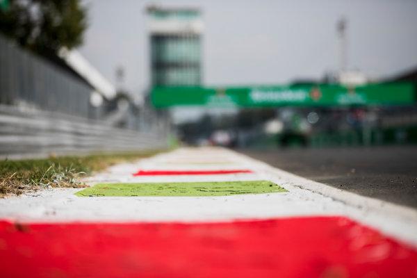 2017 GP3 Series Round 6.  Autodromo Nazionale di Monza, Monza, Italy. Thursday 31 August 2017. Kerbs. Photo: Zak Mauger/GP3 Series Media Service. ref: Digital Image _54I4862