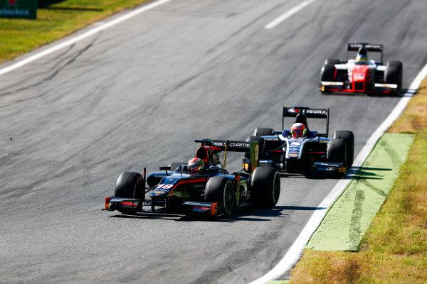 Autodromo Nazionale di Monza, Italy. Sunday 3 September 2017 LouiLuca Ghiotto (ITA, RUSSIAN TIME). follows Louis Deletraz (SUI, Rapax). s Deletraz (SUI, Rapax).  Photo: Bloxham/FIA Formula 2 ref: Digital Image _W6I4731