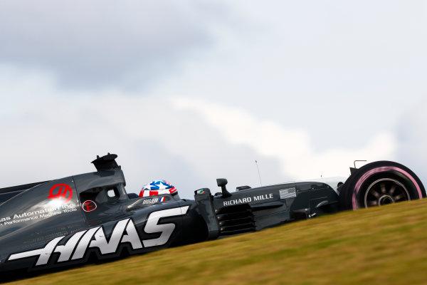 Circuit of the Americas, Austin, Texas, United States of America. Friday 20 October 2017. Romain Grosjean, Haas VF-17. World Copyright: Sam Bloxham/LAT Images  ref: Digital Image _W6I2780