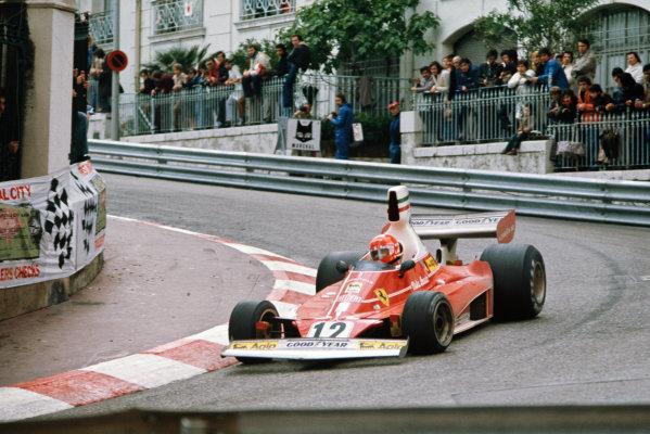 1975 Monaco Grand Prix  Monte Carlo, Monaco. 8-11th May 1975.  Niki Lauda, Ferrari 312T, 1st position.  Ref: 75MON02. World copyright: LAT Photographic
