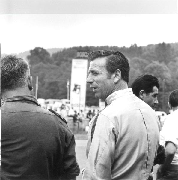 "1966 Belgian Grand Prix.Spa-Francorchamps, Belgium. 12 June 1966.Jean-Pierre Sarti (actor Yves Montand) in the film ""Grand Prix"", portrait.World Copyright: LAT PhotographicRef: 34905"