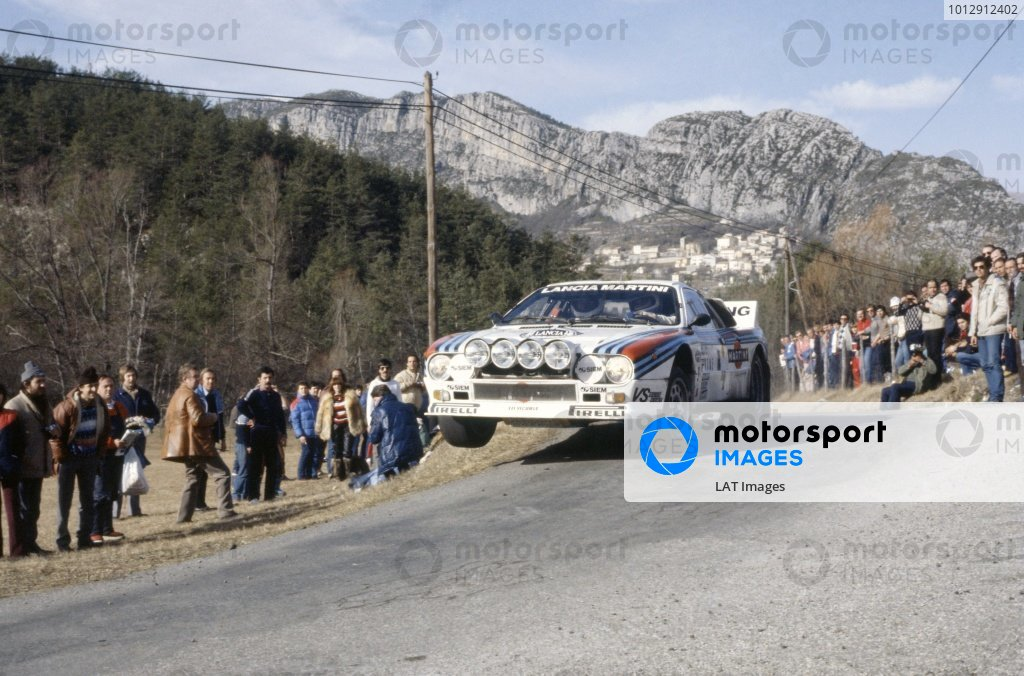 1983 World Rally Championship.Monte Carlo Rally, Monaco. 22-29 January 1983.Markku Alen/Ilkka Kivimaki (Lancia Rally 037), 2nd position.World Copyright: LAT PhotographicRef: 35mm transparency 83RALLY12