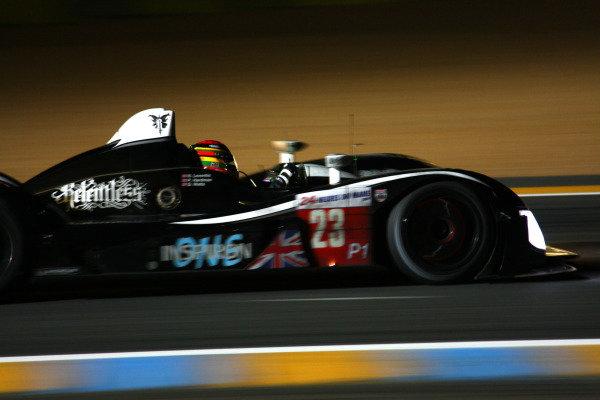 Circuit de La Sarthe, Le Mans, France.8th - 14th June 2009. Danny Watts/Peter Hardman/Nick Leventis, No 23 Strakka Racing Ginetta-Zytek GZ09S. Action. World Copyright: Kevin Wood/LAT Photographic Photographic Ref: IMG_6000 JPG