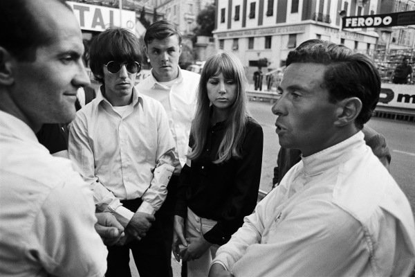 Jim Clark in dialogue with fans including Beatle George Harrison.