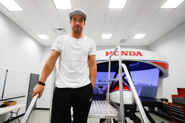 2017 Verizon IndyCar Series Fernando Alonso Simulator Test at HPD-I Brownsburg, Indiana, USA Tuesday 25 April 2017  World Copyright: Michael L. Levitt LAT Images