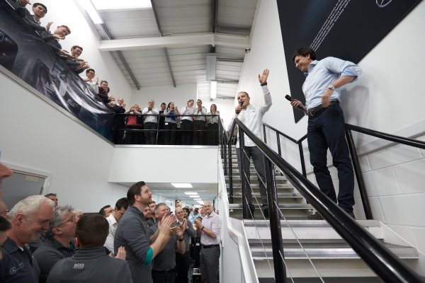 Mercedes F1 Driver Announcement Mercedes AMG Factory, Brackley, UK Monday 16 January 2017 Valtteri Bottas is announced as the new Mercedes AMG F1 driver for 2017. World Copyright: Steve Etherington/LAT Photographic ref: Digital Image EW4P2998