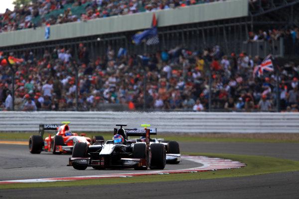 2013 GP2 Series. Round 5. Silverstone, Northamptonshire, England. 30th June. Sunday Race. Rene Binder (AUT, Venezuela GP Lazarus). Action.  World Copyright: Jakob Ebrey/GP2 Series Media Service. Ref: JE2_4201
