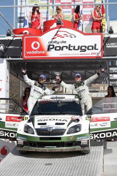 2013 World Rally Championship Rally Portugal 11th - 14th April 2013 Esapekka Lappi, Janne Ferm, Skoda, podium Worldwide Copyright: McKlein/LAT