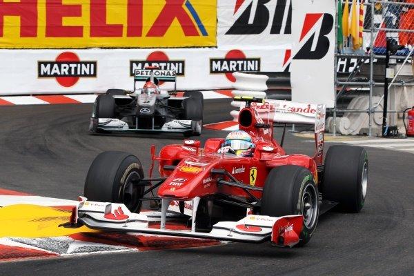 Fernando Alonso (ESP) Ferrari F10. Formula One World Championship, Rd 6, Race, Monaco Grand Prix, Monte-Carlo, Monaco, Sunday 16 May 2010.  BEST IMAGE