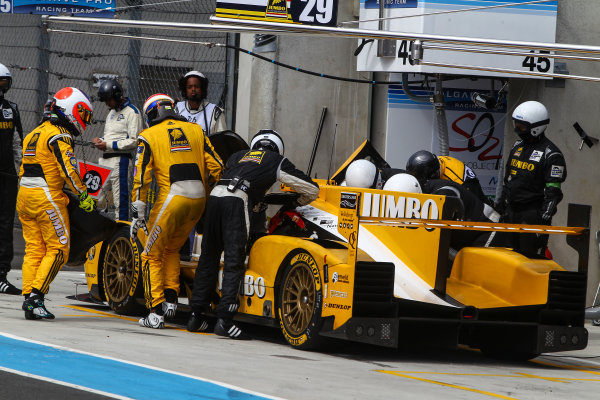 2017 Le Mans 24 Hours Test day, Le Mans, France. 4th June 2017. #29 Racing Team Nederland Dallara P217-Gibson: Jan Lammers, Frits Van Eerd, Rubens Barrichello. World Copyright: JEP/LAT Images.