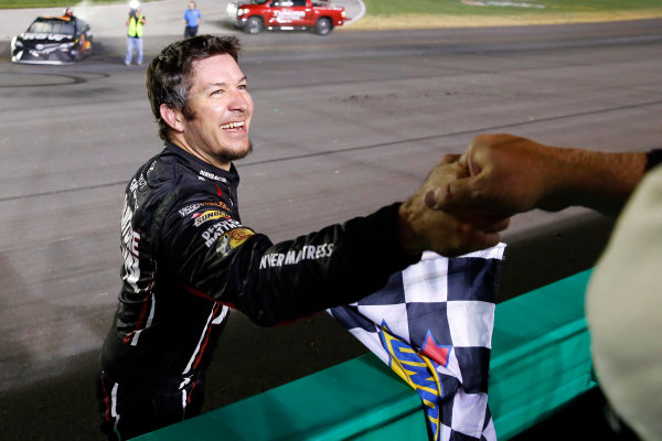 Monster Energy NASCAR Cup Series Quaker State 400 Kentucky Speedway, Sparta, KY USA Saturday 8 July 2017 Martin Truex Jr, Furniture Row Racing, Furniture Row/Denver Mattress Toyota Camry celebrates his win  World Copyright: Russell LaBounty LAT Images