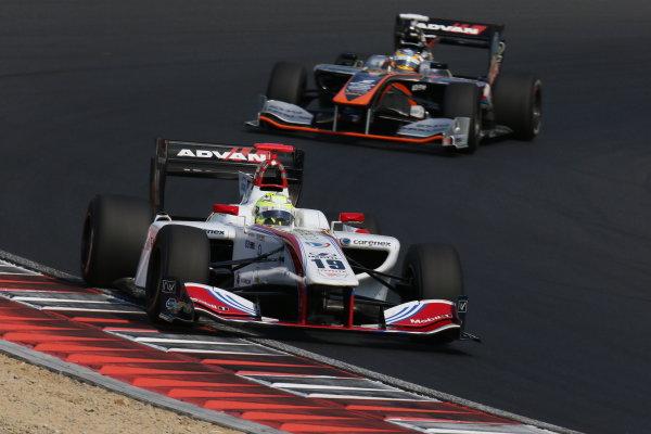 2017 Japanese Super Formula. Okayama, Japan. 27th - 28th May 2017. Rd 2. Race 2 Winner Yuhi Sekiguchi ( #19 ITOCHU ENEX TEAM IMPUL SF14 ) action World Copyright: Yasushi Ishihara / LAT Images. Ref: 2017SF_Rd2_Race2_005