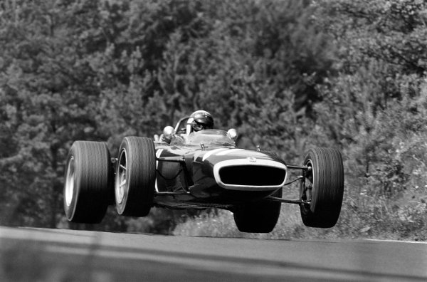 1967 German Grand Prix. Nurburgring, Germany. 4th - 6th August 1967.  Jackie Stewart (BRM P83), retired, action. World Copyright: LAT Photographic. Ref: 608D - 29.