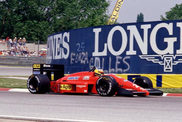 1987 San Marino Grand Prix.Imola, Italy.1-3 May 1987.Michele Alboreto (Ferrari F187) 3rd position.Ref-87 SM 29.World Copyright - LAT Photographic