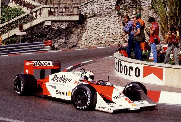 1987 Monaco Grand Prix. Monte Carlo, Monaco. 28th - 31st May 1987.  Stefan Johansson (McLaren MP4/3 TAG Porsche).Ref-87 MON 51.World Copyright - LAT Photographic