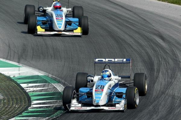 Alexandros Margaritis (GRE) MB Racing Performance Dallara Opel leads Daniel La Rosa (GER) MB Racing Performance Dallara Opel.